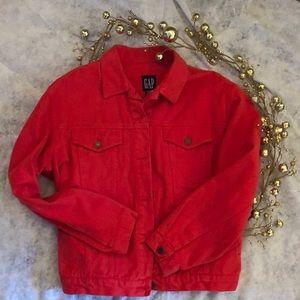 GAP Red Denim Jacket